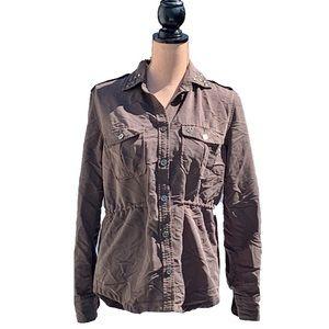 ☀️4/25 Obey Khaki Shirt w/Hidden Drawstring Waist